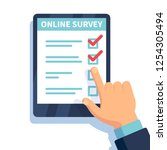 online survey. internet... | Shutterstock .eps vector #1254305494