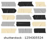 scotch tape. transparent... | Shutterstock .eps vector #1254305524