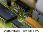 analog electronic circuit board ... | Shutterstock . vector #1254311497