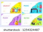 music instruments brochure card ...