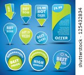 blue and green special offer... | Shutterstock .eps vector #125432834