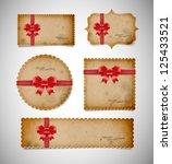 vector vintage old paper die... | Shutterstock .eps vector #125433521