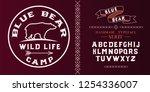 blue bear. wild life camp logo...   Shutterstock .eps vector #1254336007
