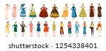 history of fashion. collection... | Shutterstock .eps vector #1254338401