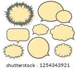 speech bubbles speech balloon   Shutterstock .eps vector #1254343921