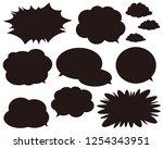 speech bubbles speech balloon   Shutterstock .eps vector #1254343951