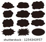 speech bubbles speech balloon   Shutterstock .eps vector #1254343957