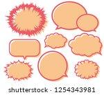 speech bubbles speech balloon   Shutterstock .eps vector #1254343981
