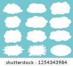 speech bubbles speech balloon   Shutterstock .eps vector #1254343984