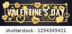valentines day horizontal... | Shutterstock .eps vector #1254345421
