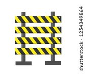 road barrier icon flat isolated ... | Shutterstock .eps vector #1254349864