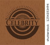 celebrity wooden emblem. retro | Shutterstock .eps vector #1254353494