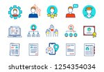resume color icons set.... | Shutterstock .eps vector #1254354034