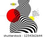 black and white design. pattern ... | Shutterstock .eps vector #1254362644