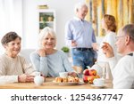 senior people visiting old... | Shutterstock . vector #1254367747