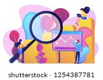 marketers with magnifier...   Shutterstock .eps vector #1254387781