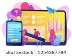 businessman completing online... | Shutterstock .eps vector #1254387784