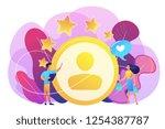 marketer measuring customer... | Shutterstock .eps vector #1254387787