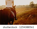 Young Woman Horseriding In...