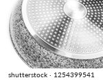 a frying pan on a white... | Shutterstock . vector #1254399541