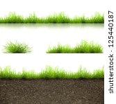 green grass with in soil... | Shutterstock . vector #125440187