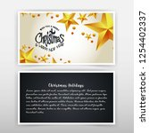 christmas invitation card with... | Shutterstock .eps vector #1254402337