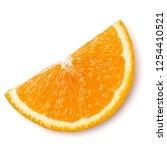 Orange Fruit Slice  Isolated On ...