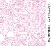 girl power line seamless... | Shutterstock .eps vector #1254411094