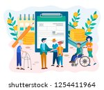 social security benefits form... | Shutterstock .eps vector #1254411964