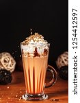 beautifully decorated latte... | Shutterstock . vector #1254412597
