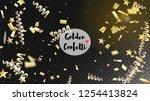 modern realistic gold tinsel... | Shutterstock .eps vector #1254413824