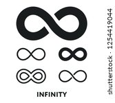 infinity eternity symbol sign... | Shutterstock .eps vector #1254419044