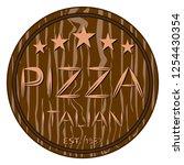 vector illustration logo for... | Shutterstock .eps vector #1254430354