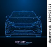 abstract polygonal light of... | Shutterstock .eps vector #1254435721