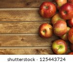 Red Apples In Wooden Box....