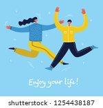 concept of group of young... | Shutterstock .eps vector #1254438187