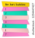 new year resolutions list... | Shutterstock .eps vector #1254447427