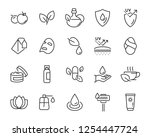 set of skincare line icons ... | Shutterstock .eps vector #1254447724
