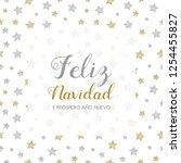 feliz navidad y prospero ano... | Shutterstock .eps vector #1254455827