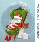 santa claus reads letters   Shutterstock .eps vector #1254458467