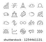 simple set of agile vector line ...   Shutterstock .eps vector #1254461131