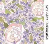 floral seamless background.... | Shutterstock .eps vector #125446691