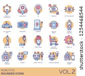 robotics icons including... | Shutterstock .eps vector #1254468544