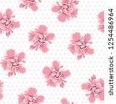 pink camelia flowers seamless...   Shutterstock .eps vector #1254486964