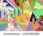 abstract collage asymmetric... | Shutterstock .eps vector #1254496084