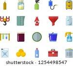 color flat icon set hook flat... | Shutterstock .eps vector #1254498547