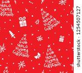 christmas concept seamless... | Shutterstock .eps vector #1254507127
