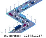 road with cars  truck used for... | Shutterstock .eps vector #1254511267