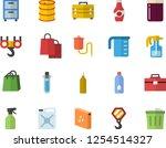 color flat icon set hook flat... | Shutterstock .eps vector #1254514327