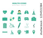 health icons vector pack | Shutterstock .eps vector #1254521584